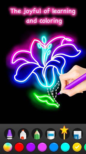 Learn To Draw Glow Flower скриншот 7