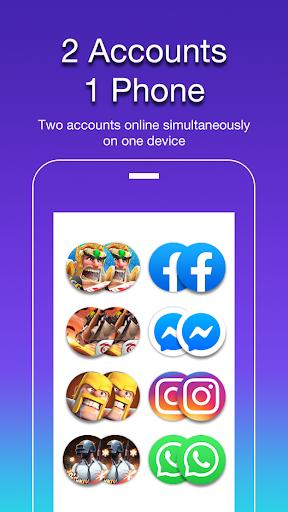 2Accounts - Dual Space & Dual Apps screenshot 1