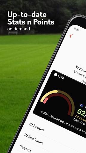 Live cricket scores, unique cricket app cricsmith 7 تصوير الشاشة