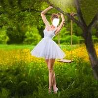 راقصة الباليه صور المونتاج أيقونة