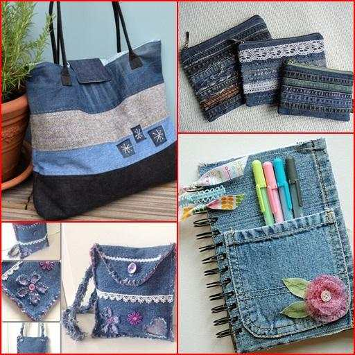 Recycled Jeans Craft Ideas screenshot 1