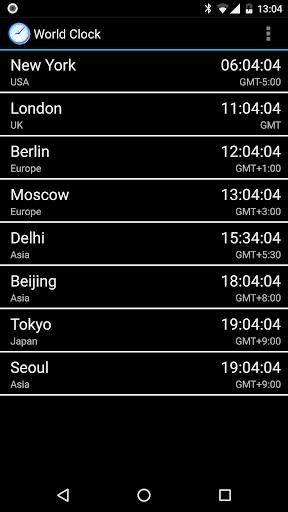 World Clock & Widget screenshot 1