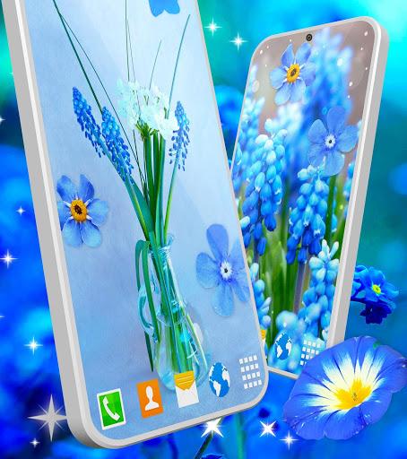 Blue Flowers Live Wallpaper 🌼 Flower 4K Wallpaper screenshot 5