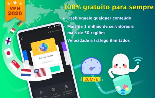NetCapsule VPN VPN grátis, VPN rápida, Desbloquear screenshot 1