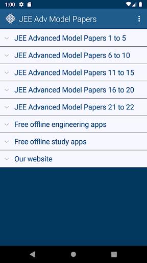 JEE Advanced Model Papers Free screenshot 1