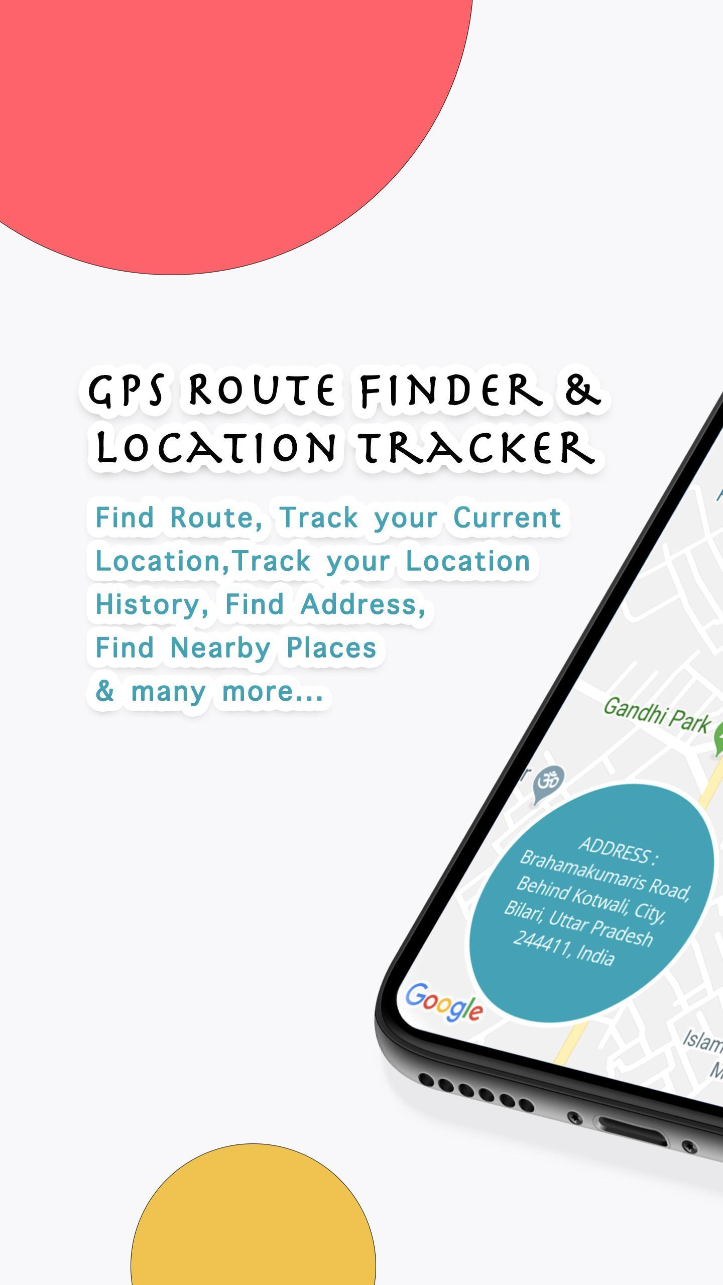 GPS Route Finder & Location Tracker - Navigation screenshot 1