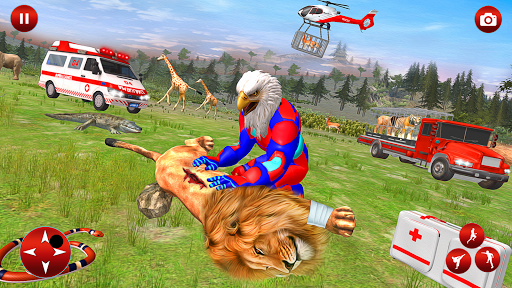 Superhero Animals Robot Rescue Mission screenshot 17
