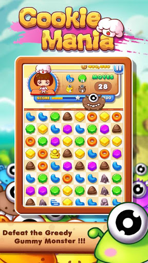 Cookie Mania - Match-3 Sweet Game screenshot 2