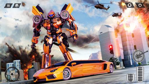 Real Limo Robot Car Transformation Games 2021 screenshot 4