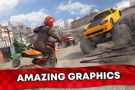 Free Motor Bike Racing - Fast Offroad Driving Game screenshot 6