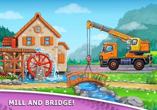 बच्चों के लिए ट्रक गेम - घर की इमारत  कार धोने स्क्रीनशॉट 20