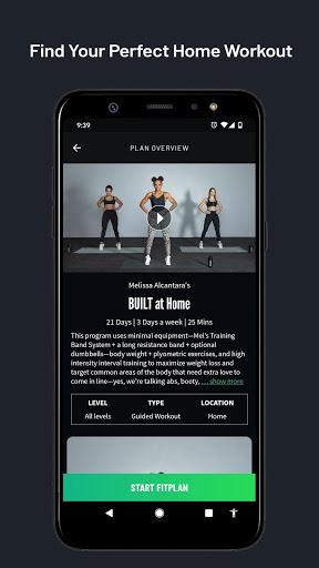 Fitplan: Home Workouts and Gym Training screenshot 1