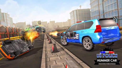 US Police ATV Quad Bike Hummer: Police Chase Games screenshot 1