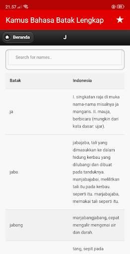 Kamus Bahasa Batak Indonesia Lengkap screenshot 8