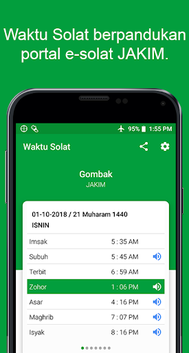 Waktu Solat Malaysia - Kiblat, Azan, Doa screenshot 1