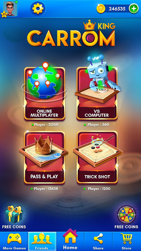 Carrom King™ - Best Online Carrom Board Pool Game 1 تصوير الشاشة