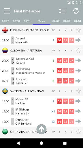 تنبؤات وإحصائيات كرة القدم والمراهنات 2 تصوير الشاشة