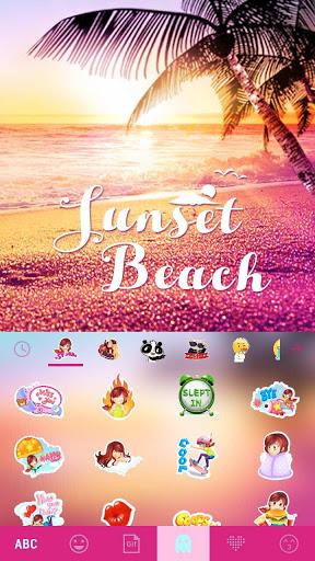 ثيم لوحة المفاتيح Sunsetbeach 5 تصوير الشاشة