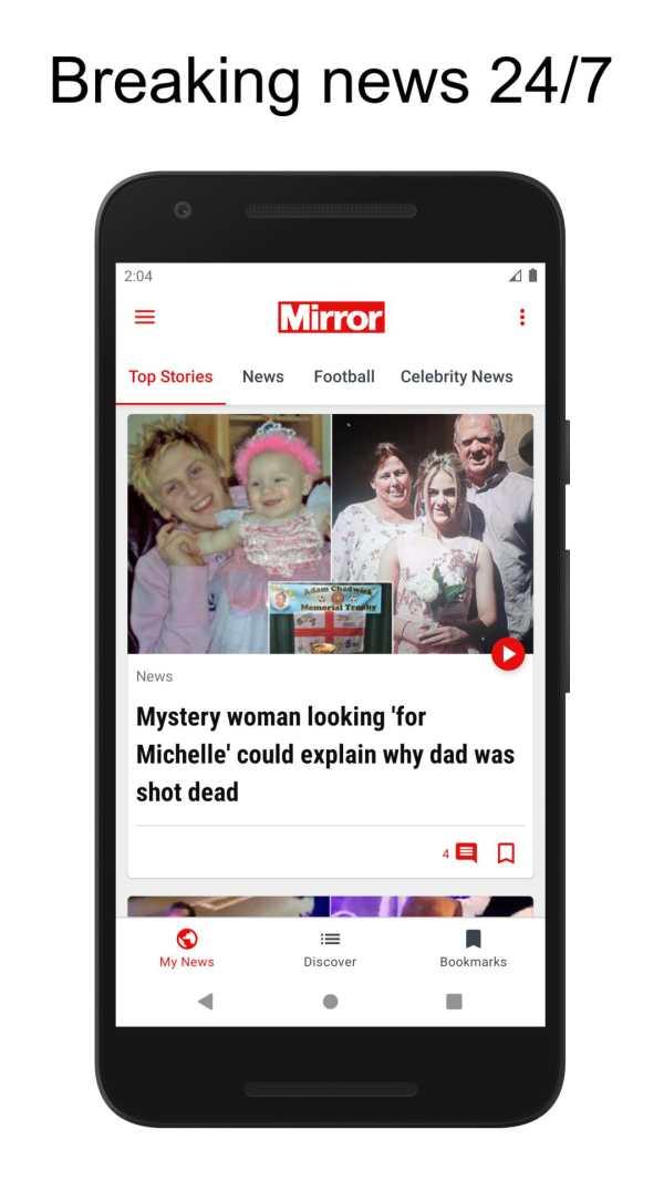 The Mirror App: Daily News screenshot 1