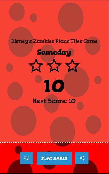 Disney's Zombies Piano Game 4 تصوير الشاشة
