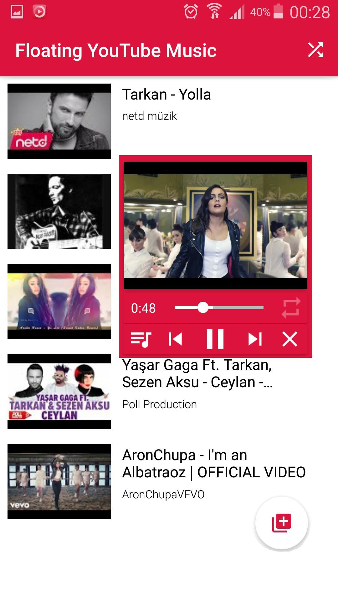 Floating IamTube Music Player screenshot 3