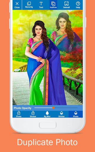 Woman Fancy Saree Photo Suit Editor 8 تصوير الشاشة
