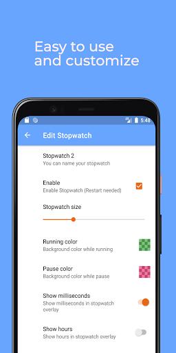 Stopwatch: floating multitasking timer screenshot 5