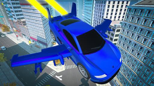 Real Light Flying Car Racing Simulator Games 2020 screenshot 4