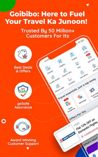 Goibibo Travel App-Hotel, Flight, IRCTC Train, Bus screenshot 1