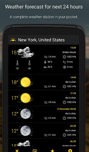 الطقس لمدة 16 يوما 7 تصوير الشاشة