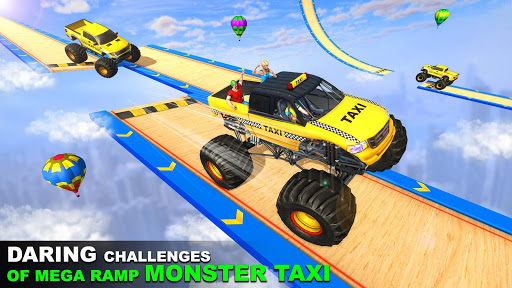 Grand Taxi Monster Truck Driving Stunt Racing Game screenshot 2