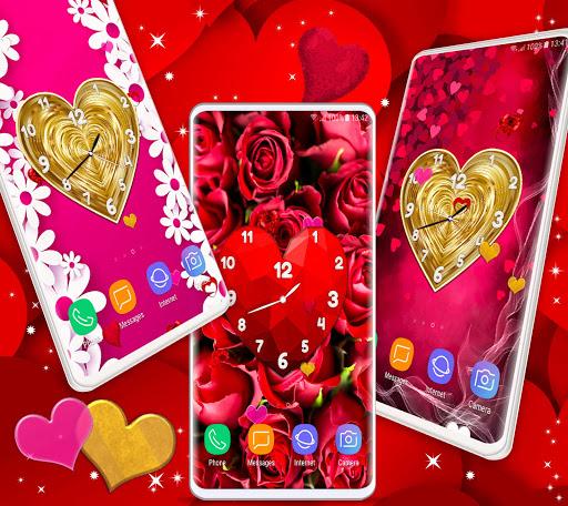 Love Clock Wallpaper ❤️ Hearts 4K Live Wallpaper screenshot 3
