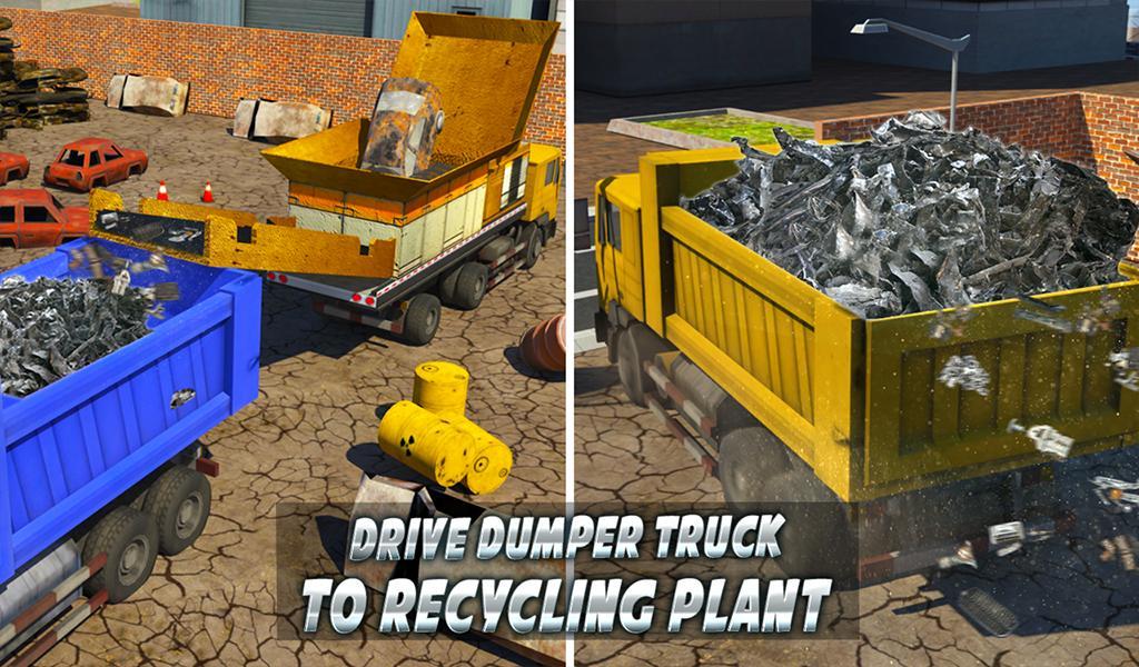 Monster Car Crusher Crane 2019: City Garbage Truck screenshot 14