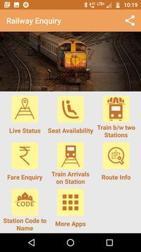 LIVE Railway Train Enquiry 1 تصوير الشاشة