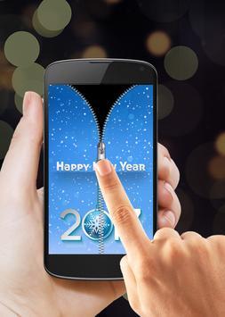 New Year 2017 Zipper Lock screenshot 2
