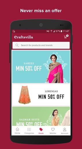 Craftsvilla - Sarees Suits Jewellery Shopping App 2 تصوير الشاشة