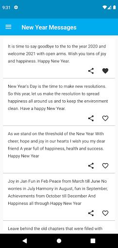 2021 New Year Messages screenshot 1