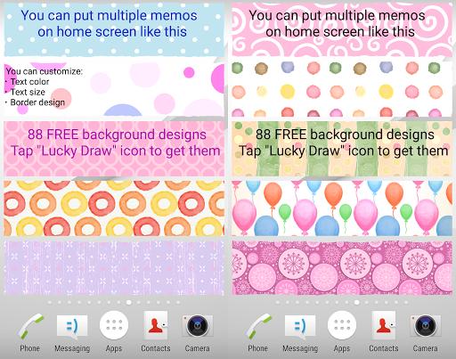 Sticky Memo Notepad *Dots* Free screenshot 3