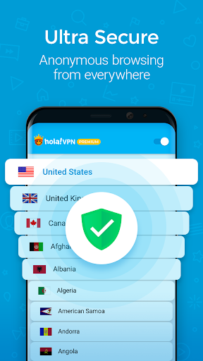 Hola VPN Proxy Plus screenshot 3