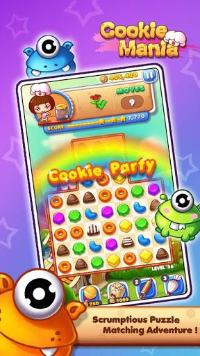 Cookie Mania - Match-3 Sweet Game 1 تصوير الشاشة
