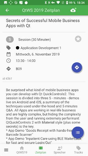 Qt World Summit 2019 Conference App screenshot 3