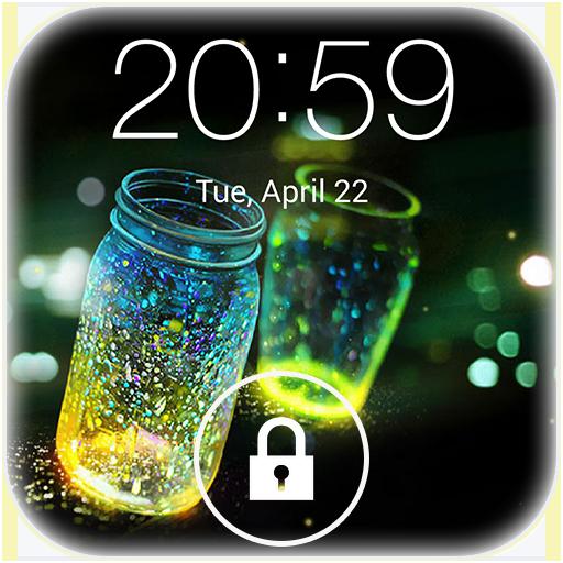 Fireflies lockscreen أيقونة
