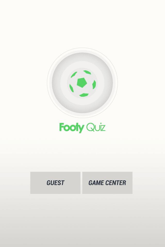 Footy Quiz 1 تصوير الشاشة