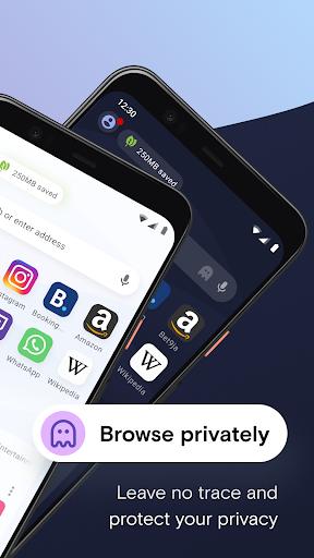 Opera Mini 베타 웹 브라우저 screenshot 2