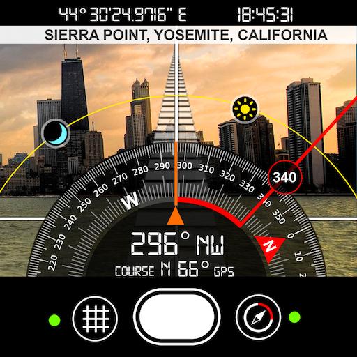 Compass S8 (GPS Camera) أيقونة