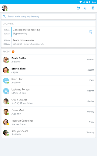 Skype for Business for Android screenshot 9