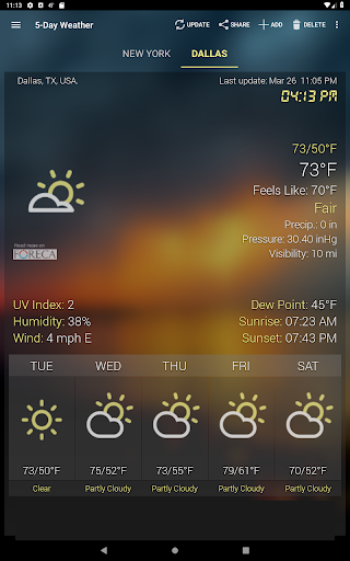 Weather & Clock Widget for Android screenshot 15