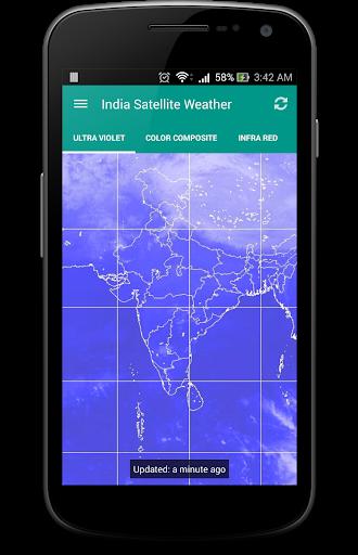 India Satellite Weather 3 تصوير الشاشة