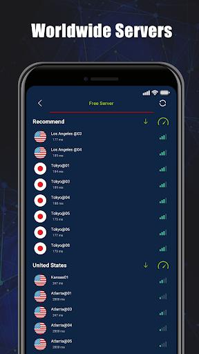 Free VPN SecVPN: Fast Unlimited Secure Proxy स्क्रीनशॉट 3