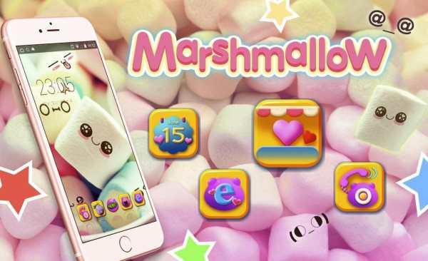 Cute Marshmallow cartoon Theme for android free screenshot 5